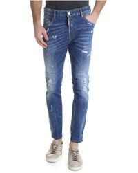 DSquared² - Skater Jeans With Blue Spots Of Colour - Lyst