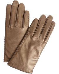Polo Ralph Lauren Bronze-colored Leather Gloves - Multicolor
