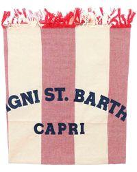 Mc2 Saint Barth Telo Mare Foutas Rosso E Color Crema