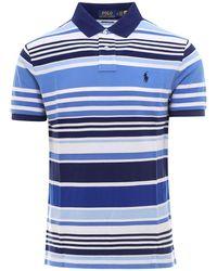 Polo Ralph Lauren Striped Polo Shirt - Blue