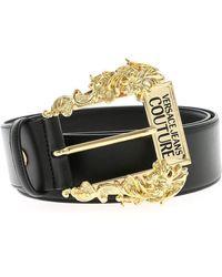 Versace Jeans Decorative Buckle Belt - Black