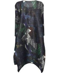 Pleats Please Issey Miyake Andante Print Dress - Multicolour