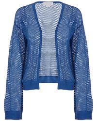 Genny Circular Texture Cardigan - Blue