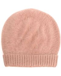 Roberto Collina - Camel Colored Angora Cap - Lyst