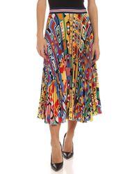 Stella Jean Pleated Multicolour Skirt