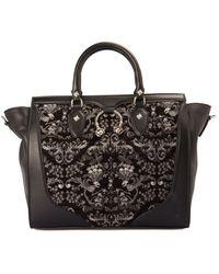 John Richmond Velvet Insert Bag - Black