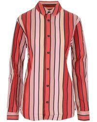 Marni - Camicia A Righe Rossa E Rosa - Lyst