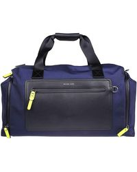 Michael Kors Nylon Duffle Bag - Blue