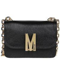 Moschino Monogram Logo Cross Body Bag - Black