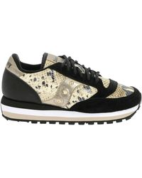 purchase cheap 8667d 173a2 Jazz Triple Trainers With Reptile Print In Black