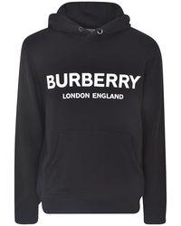 Burberry - Logo Hooded Sweatshirt - Lyst