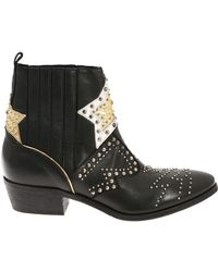 """Strategia - """"roxana"""" Black Ankle Boots - Lyst"""