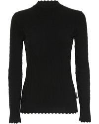Love Moschino Knitted Turtleneck - Black
