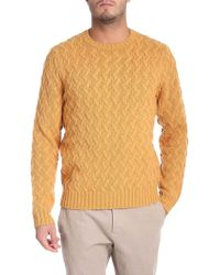 Brooks Brothers - Yellow Pullover With Embossed Pattern - Lyst