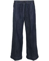 P.A.R.O.S.H. Drawstring Wide Jeans - Blue