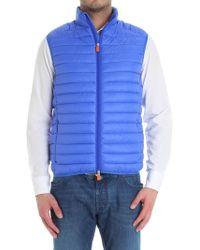 Save The Duck - Electric Blue Sleeveless Jacket - Lyst