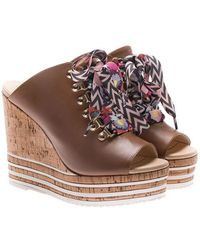 Hogan - Brown Leather H361 Mules - Lyst