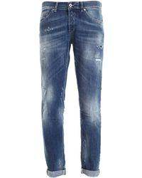 Dondup Jeans George Blu Destroyed