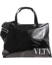 Valentino - Vltn Black Tote Bag - Lyst