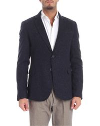 Trussardi - Blazer Semi Lined Blue - Lyst