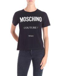 Moschino - Printed Logo T-shirt - Lyst
