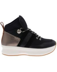 See By Chloé Black Leather Atena Trainers