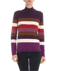 Altea - Wool Pullover With Multicolor Stripes - Lyst
