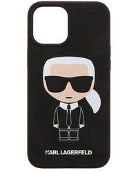 Karl Lagerfeld K Ikonic Iphone 12pro Max Cover - Black