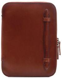 Officine Creative Brown Leather Ipad Case