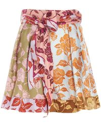 Zimmermann The Lovestruck Spliced Shorts - Multicolour