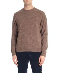 Brooks Brothers - Speckle Brown Crew-neck Jumper - Lyst