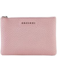 Orciani - Pink Leather Wallet - Lyst