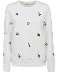 RED Valentino Clover Embroidery Sweatshirt - White