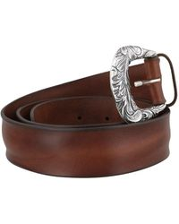 Orciani Bull Soft Leather Belt - Brown