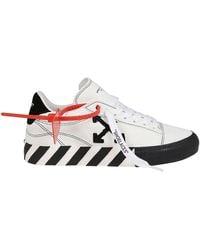 Off-White c/o Virgil Abloh Vulcanized Low Leather Sneakers - White