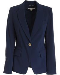 Michael Kors Single-breasted Jacket - Blue