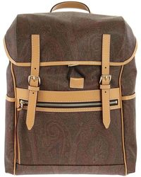 Etro Paisley Jacquard Backpack - Brown