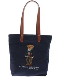Polo Ralph Lauren Polo Bear Embroidery Tote Bag - Blue