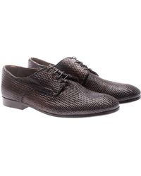 Raparo - Brown Woven Leather Derby - Lyst