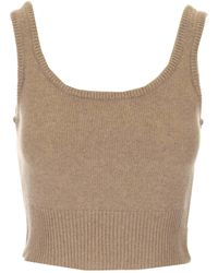 FEDERICA TOSI - Cashmere And Wool Knitted Top - Lyst