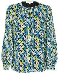 Michael Kors Floral Print Shirt - Blue