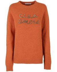Giada Benincasa Ciao Amore Sweater - Orange
