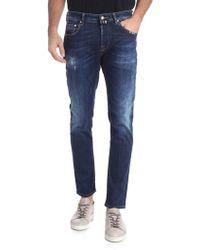 Jacob Cohen - Jeans 5 tasche blu effetto vintage - Lyst