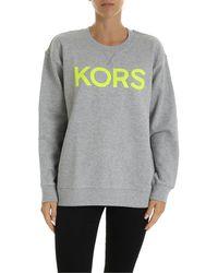 Michael Kors Neon Print Oversize Sweatshirt - Gray