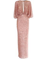 Elisabetta Franchi Sequined Dress - Pink