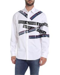 DSquared² Tape Print Military Fit Shirt - White
