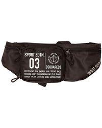 DSquared² Contrasting Print Belt Bag - Black