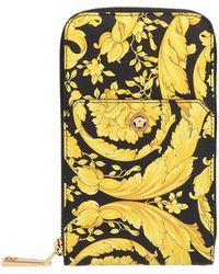 Versace Barocco Print Wallet - Multicolor