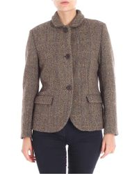 Aspesi - Two-buttons Jacket In Shades Of Brown - Lyst