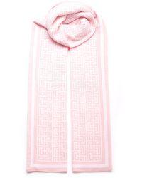 Balmain Monogram Scarf - Pink